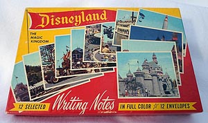 1950s Disneyland - The Magic Kingdom Writing Notes